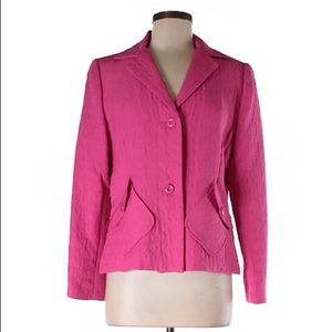 SAG HARBOR Quilted Hot Pink Blazer NWT